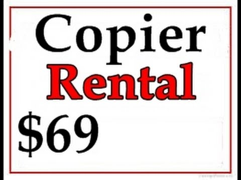 Copier Lease Rates