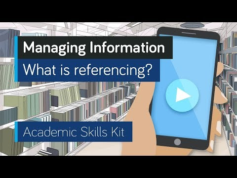 ASK Online Learning Resources 3.1: Managing Information - What is referencing?