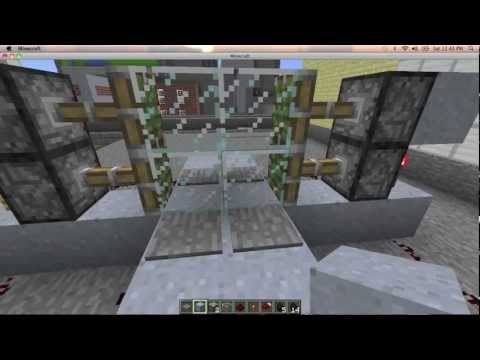 Minecraft How to Build an Automatic Sliding Glass Door Tutorial & Minecraft How to Build an Automatic Sliding Glass Door Tutorial ...