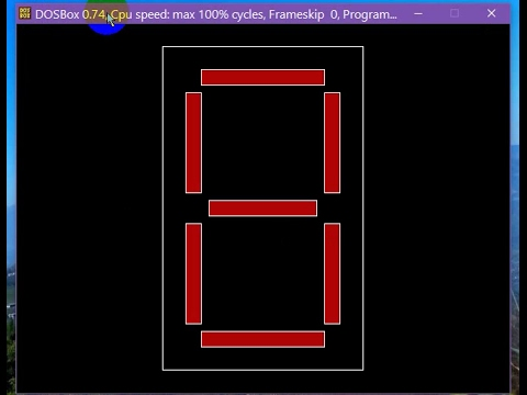 Computer Graphics Project in C++ -7-Segment LED Display simulation-using Turbo C++