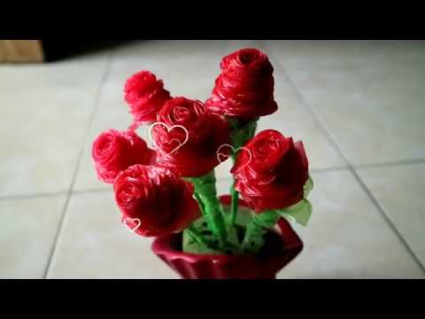 CARA MEMBUAT BUNGA MAWAR DARI KANTONG KRESEK   PLASTIK - YouTube 53b2721d6e