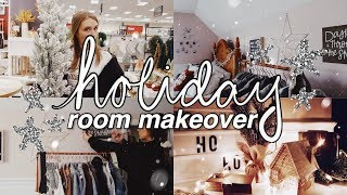 HOLIDAY ROOM MAKEOVER 2019 | cleaning & decorating 🎄