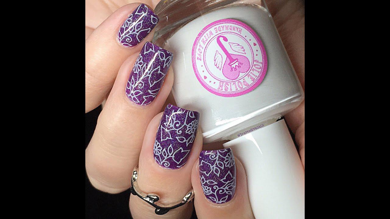 Nail Art Tutorial – Floral Stamping Using Fab Ur Nails, Jolie Polish ...