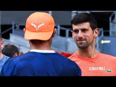 Novak Djokovic Meets Rafael Nadal on Practice - Madrid 2019 (HD)