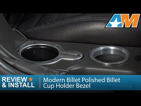 2001-2004 Mustang Modern Billet Polished Billet Cup Holder Bezel Review & Install