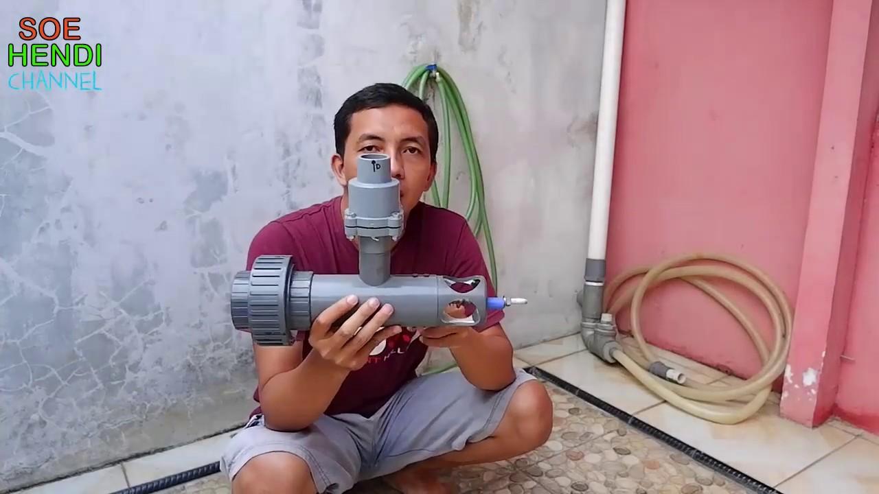 Pompa Air Tanpa Listrik Atau Pompa Hidram Sanan Input Satu Inch Youtube