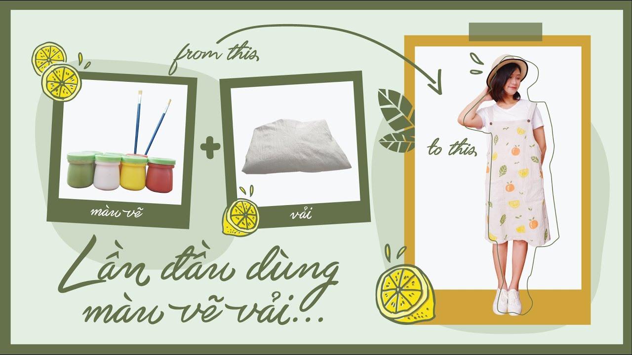 CHANG DIY | DIY Yếm Họa Tiết | Lần Đầu Dùng Màu Vẽ Vải | Chang Chan
