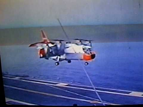 Largest and Heaviest XC-142 S/VTOL Short/Vertical Take Off and Landing on an Aircraft Carrier -1964