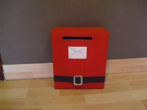 Como hacer un buz n de correo con una caja de zapatos para - Como forrar una caja con tela ...