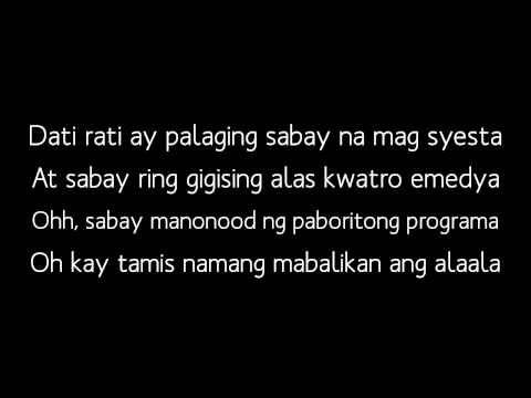 DATI- Sam Concepcion, Tippy Dos Santos and Quest (LYRICS VIDEO)
