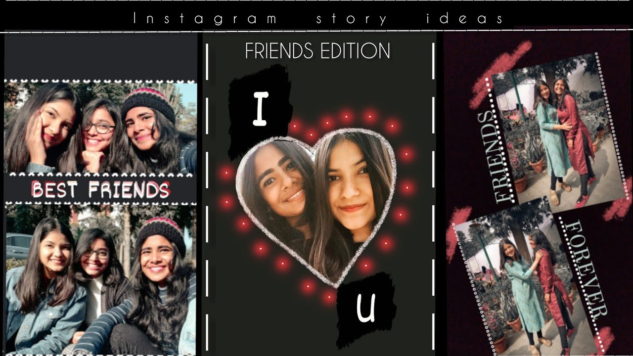 20 UNIQUE, CREATIVE Instagram story IDEAS using only IG app Friends edition