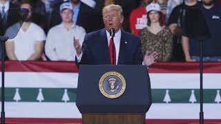 Trump reacts to impeachment vote at Michigan rally