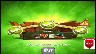 Beat The Daily Challenge King Pig Panic Completed in Angry Birds (2) SATUDAY 2