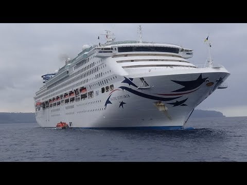 Pacific Explorer P&O cruise ship,  Vila Vanuatu 13 August 2017
