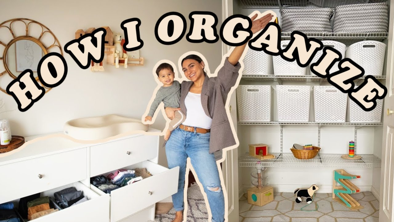How I Organize + Store ALL MY TODDLERS things! Closet Organization,Toys,Clothes,Kitchen Items etc