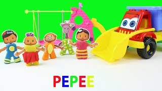 Pepee Şila Bebe Parkta Gidiyorlar Bebe ve Zuzu Parkta Yer Değiştiriyorlar Pepee Çizgi Film