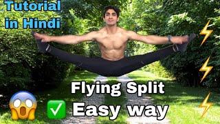 Flying Split Tutorial😱 | How to split jump🤸♂️| How to Flying Split in Hindi | Air Split Tutorial