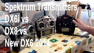 DX6 vs DX6i vs DX8 Spektrum transmitter comparison - not really a review