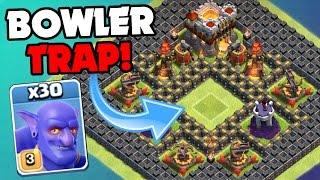 Clash Of Clans | 90 MAX BOWLERS TOTAL vs TROLL BASE! | The Bowler Troll Trap