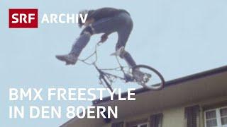 Sendung «Mikado» mit Michel Villa (1988) | BMX Freestyler gegen junge Alphornbläser | SRF Archiv