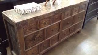 Terra Nova Asian And Contemporary Furniture - Solid Elm Antique Console