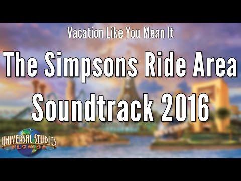 Universal Studios Florida - The Simpsons Ride Area Soundtrack 2016