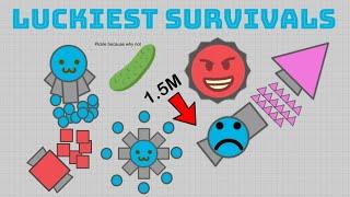 TOP 10 LUCKIEST SURVIVALS IN DIEP.IO HISTORY