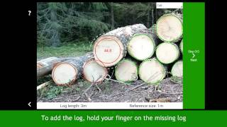 2 Diameter – H๐w to measure log count and diameters video ENG Timbeter