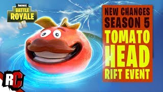 Fortnite SEASON 5 | Rift Appearing in Tomato Town, Tomato Head Event Coming Tomorrow (New Rift)