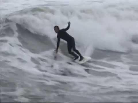 Surfing at Bob Hall Pier