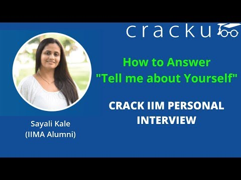 How to answer tell me about yourself in IIM Interview - MBA