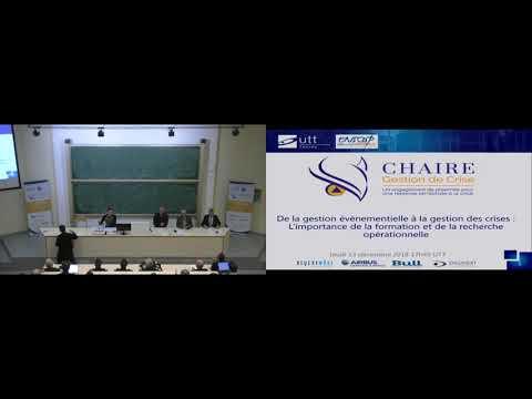 Conférence Sécurité Globale - De la gestion événementielle à la gestion de crise