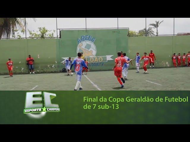 Final da Copa Geraldão de Futebol de 7 sub-13