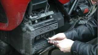 BMW K75 replacing the sparkplugs