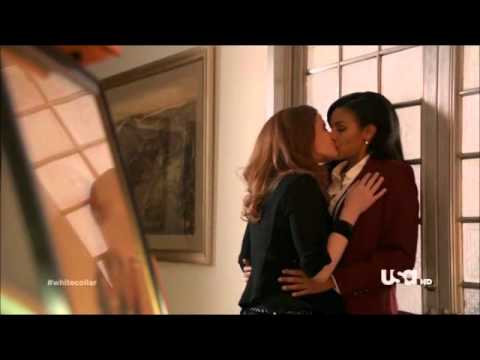 White Collar  Naomi and Charlotte from LOST Lesbian Kiss