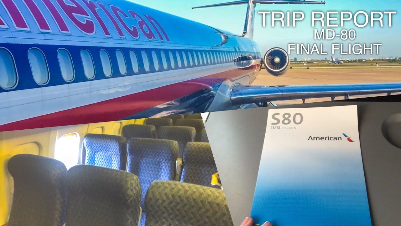 TRIP REPORT | American Airlines MD-80 FINAL FLIGHT | Dallas/Fort Worth ✈️Amarillo | MAIN CABIN EXTRA