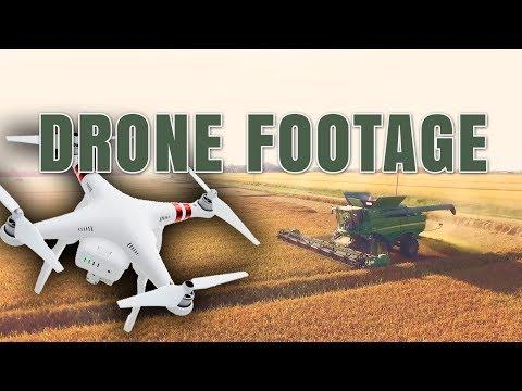 Arkansas Rice Harvest 2016 Drone Footage