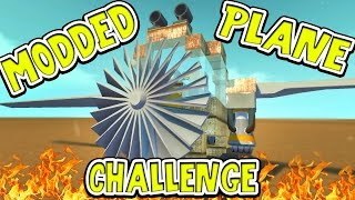 Scrap Mechanic - MODDED PLANE CHALLENGE! VS AshDubh & Speedy - [#47] | Gameplay
