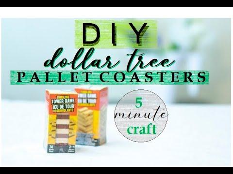 Wooden Pallet Coasters | Dollar Tree DIY | DIY Farmhouse | 5 Minute Craft