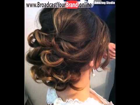 Low Loose Curly Updo For Medium Hair Youtube