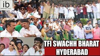 Telugu Film Industry Swachh Bharat Hyderabad - idlebrain.com