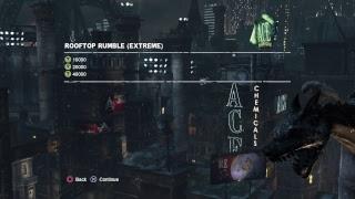 Batman arkham city Batman Rooftop Rumble Extreme combat challenge