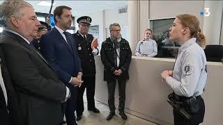 La visite de Christophe Castaner à l'Hôtel de Police de Besançon