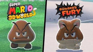 All Normal Enemies VS Cat Enemies in Super Mario 3D World + Bowser's Fury