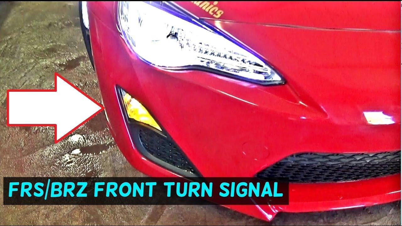 scion frs subaru brz front turn signal light bulb replacement youtubescion frs subaru brz front turn signal light bulb replacement