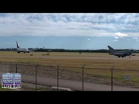 Military Planes Take-Off From Bermuda, Jan 18 2019