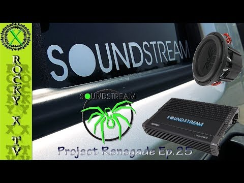 Soundstream Sub & Amp Install, (T5 & 2500W Amp) Project Renegade Ep.25