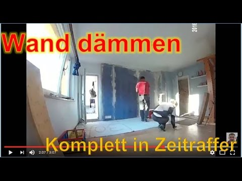1 versuch d mmung einer wand schallschutz rigips knauf diamant geklebt in zeitraffer youtube. Black Bedroom Furniture Sets. Home Design Ideas
