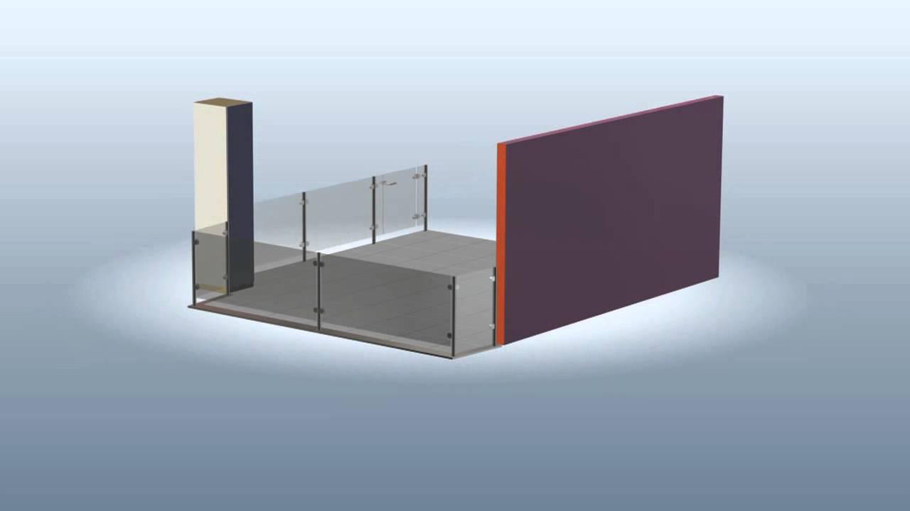 balkongel nder edelstahl glas rhein design youtube. Black Bedroom Furniture Sets. Home Design Ideas