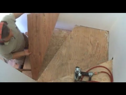 Winder Stairs: How To Installing The First Laminate Vinyle Cork Stair Tread  DIY Mryoucandoityourself